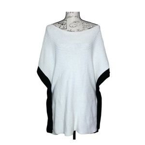 White House Black Market Colorblock Sweater Poncho